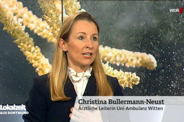 Dr. Christina Bullermann-Neust live im WDR